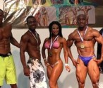 Emmanuel Jeffers -fourth from left--winner of the LSF in Anguilla