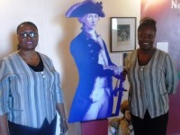 Gail Dore --right with co-worker at Nelson Museum--Jennifer Broadbelt