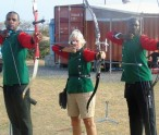 Archers--left to right -Edmund Blackett; Pam Barry and Dane Sandiford