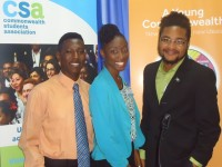 Dwane Hendrickson (President of the Nevis Youth Council, Sonia Boddie and Klieon John(Caricom Youth Ambassadors)