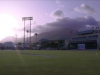 The Warner Park Cricket Stadium during a CPL match last year