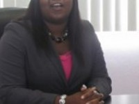 Miss Zahnela Claxton, Director of the Youth Department on Nevis