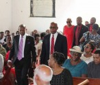 The Party Leadership entering the St Paul's Anglican Church
