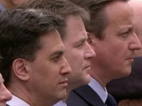party leaderThe three party leaders appeared together for the last time at the VE Day commemorationss