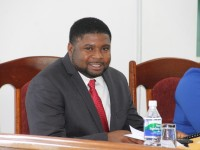 Junior Minister in the Ministry of Communications, Works and Public Utilities Hon. Troy Liburd at the May 27 sitting of the Nevis Island Assembly
