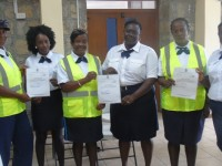 New traffic Wardens pose with certificates
