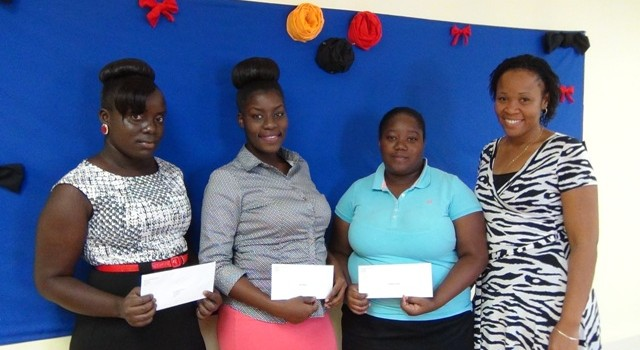 left to right--Shaquila Walters;  Amy Williams; Lorencia Dore and Ivorcia Hanley-Browne