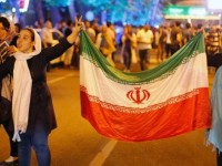 People took to the streets of the Iranian capital to celebrate the dea