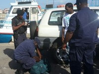 Police at Ferry Terminal