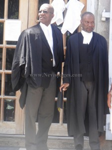 Attorneys of the accused, Hesketh Benjamin and Dr. Henry Browne