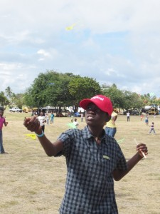 The children of the St. Christopher Children's Home were happy to fly their kites on Good Friday