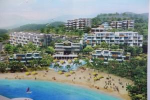 The artist's concept of the 210-room Pelican Bay Condominium Hotel.