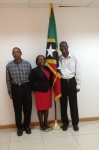 (left to right) - Permanent Secretary Mr. Elvis Newton, Consular Genera, Ms. Alex Woodley and Minister of Foreign Affairs, Hon. Patrice Nisbett .