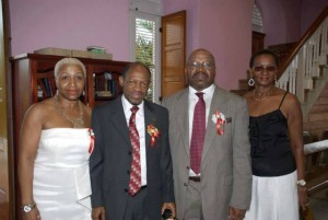 Ms. Pixie Southwell, Prime Minister the Right Hon. Dr. Denzil L. Douglas, Mr. Rustum Southwell and Miss Clytie Southwell