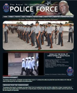 Screenshot of sknpolice homepage
