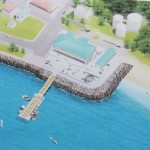 A computer-generated impression of the new state-of-the-art Fisheries Complex and jetty to be constructed on Nevis prior to the decision to construct it in Bath Village. The complex is a gift from the Government and People of Japan through the Japan International Cooperation Agency (JICA) (file photo)