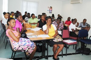 Participants in the Nursing Attendant Training at JNF Hospital, which is sponsored by the People Employment Programme (PEP).