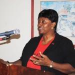People Employment Programme's Training Facilitator, Mrs Celia Christopher.