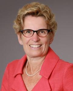 Premier of Toronto, the Hon. Kathleen Wynne