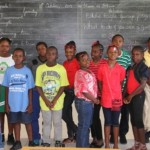 Grade five students of the St. Thomas' Primary School who are participating in the Eddie Eagle Gunsafe programme