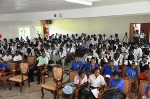 A section of the students at the session