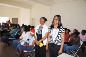 : Early Childhood workshop facilitators at the Newtown Community Centre, Ms Gloria Mills (left) and Ms June Wallace.