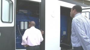 PM Douglas inspects new generator