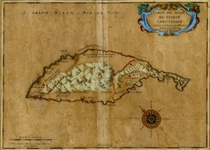 First published map of St. Kitts