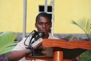 Alexander Hamilton Scholarship Fund holder Mr. Leandre Dyer of the Gingerland Secondary School