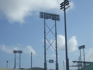 New Sports Lights at Warner Park b