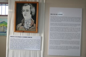 Part of an exhibit honouring the memory of Alexander Hamilton at the Alexander Hamilton Museum his birthplace on Samuel Hunkins Drive, Charlestown in Nevis (file photo)