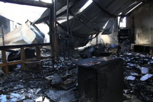 The interior of the Treasury Building which suffered structural, water and fire damage during an early morning fire on January 17, 2014