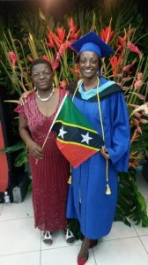 Marcia Jeffers and with her mother, Louisa