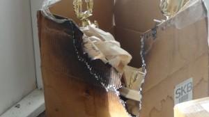 Burnt box at Netball Secretariat