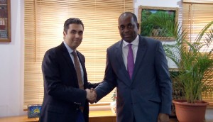 Left to right: Mohammed Asaria, Vice Chairman of Range Developments and; Honourable Roosevelt Skerrit, Prime Minister of Dominica