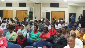 A section of the audience at the UVI Campus in St. Croix, United States Virgin Islands