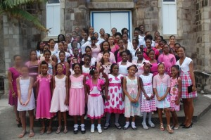 Dancers attended service at the Catholic Church