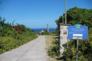 One of Nevis' popular Heritage Trails at New River-Coconut Walk Estates