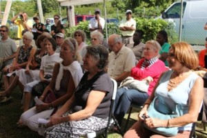 A section of persons attending the ground breaking ceremony for the Veterinary Clinic Expansion project at Prospect Estate on January 30, 2014