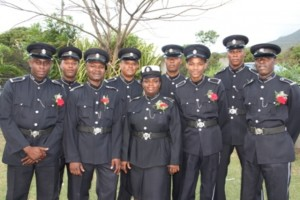 Police Constables of the Royal St. Christopher and Nevis Police Force, Nevis Division nominated from various Departments, for the title of Constable of the Year 2013 at the Occasions Entertainment Arcade, the venue for the Police Constable Awards Ceremony and Dinner on March 01, 2014