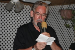Camil Dumont President of Aviation Connection based in Canada delivering remarks at a cocktail reception at the Lime Beach Bar and Grill at Pinneys Beach, hosted by the Nevis Tourism Authority and the Nevis Air and Sea Ports Authority