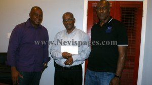 Mr. Vaughn Walters (L), Mr. Pearlivan Wilkin and Mr. Laughton Browne