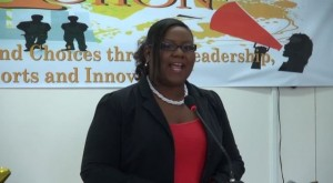 Coordinator of Youth Development in the Department of Youth and Sports on Nevis Zahnela Claxton