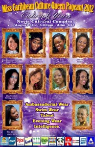 Miss Caribbean pageant poster