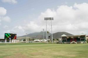 Warner park Cricket Stadium with recently built 3700 lux lights and jumbotron video scoreboard