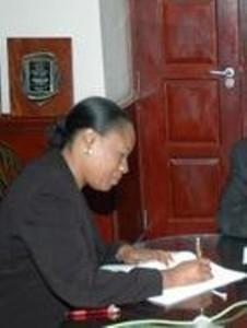 Acting Financial Secretary, Mrs. Hilary Hazel