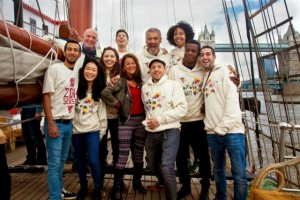 The cast of Globe to Globe's Hamlet written by renowned playwright Shakespeare (courtesy Shakespeare's Globe)
