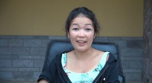 Jennifer Leong a cast member in William Shakespeare's play Hamlet performed in Nevis by Globe to Globe of London