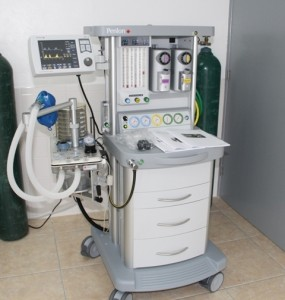 The newly commissioned state-of-the-art anaesthesia machine at the Alexandra Hospital