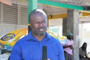 Chief Executive Officer of the Nevis Tourism Authority Greg Phillip speaking to the Department of Information on November 19, 2014 at the Charlestown Waterfront